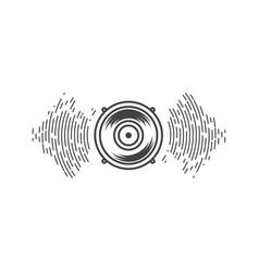 speaker waves design vector image