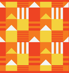 Symmetrical roof tops seamless pattern vector
