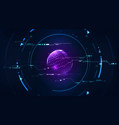 technological future interface hud global vector image