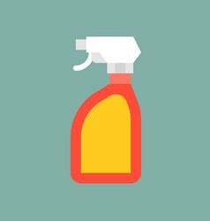 Trigger spray bottle liquid detergent cleaning vector