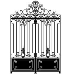Vintage gate vector
