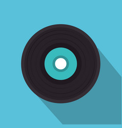 Vinyl disk isolated icon vector
