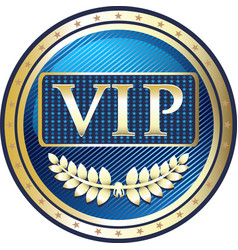 Vip gold icon vector