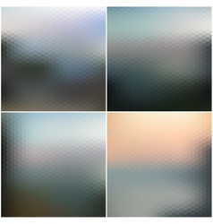 web and mobile interface templates Blurred vector image