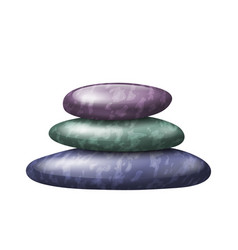 Zen spa stones stack on white background eps 10 vector