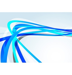 Blue transparent lines speed background vector image