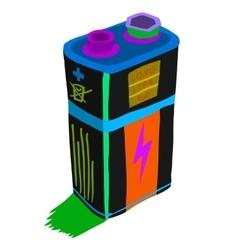 Cartoon battery flat icon vector image vector image