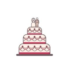 Decorated wedding cake vector image