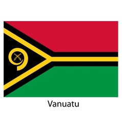 Flag of the country vanuatu vector image vector image