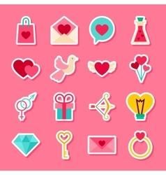 Happy Valentine Day Stickers vector image vector image