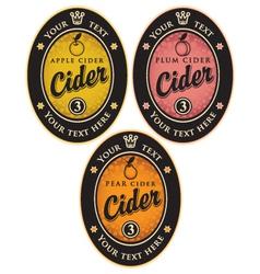 labels for cider vector image