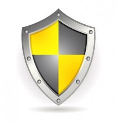 metal shield vector image vector image