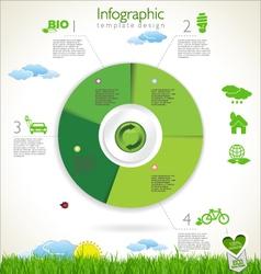 Modern ecology template design vector image vector image