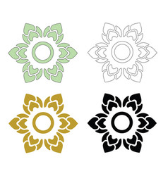 thai pattern flower vector image vector image