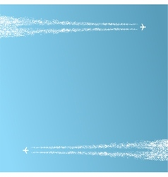Two planes in the sky vector image