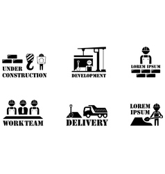 concept building icons vector image vector image