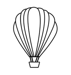 figure fly balloon transport vector image vector image