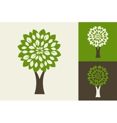 green tre - logo and icon vector image vector image