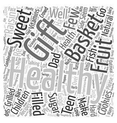 healthy gift basket Word Cloud Concept vector image vector image
