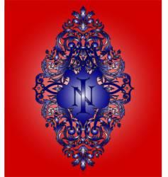 heraldry monogram vector image