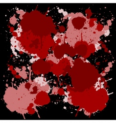 red ink spots vector image vector image
