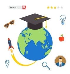 Set icons for education online professional in vector image vector image