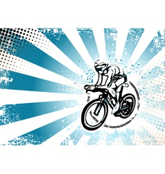 cyclyng poster vector image