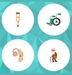 flat icon disabled set of equipment stand vector image
