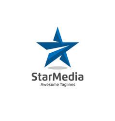 star color logo vector image vector image