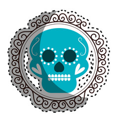 sticker vintage border with decorative ornamental vector image
