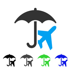 Aviation umbrella flat icon vector