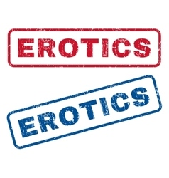 Erotics Rubber Stamps vector image