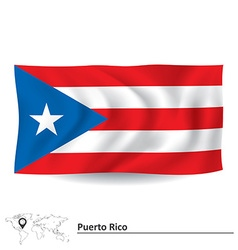 Flag of Puerto Rico vector image