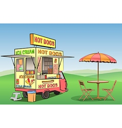Hot Dog Ice Cream vector image vector image