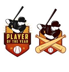 Set of vintage baseball labels and badges vector image vector image
