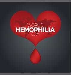 world hemophilia day logo icon design vector image vector image