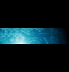 Abstract tech industrial geometric web header vector