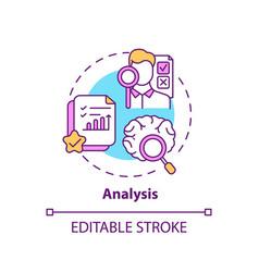 Analysis concept icon vector