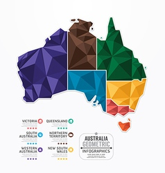 Australia Map Infographic Template geometric vector