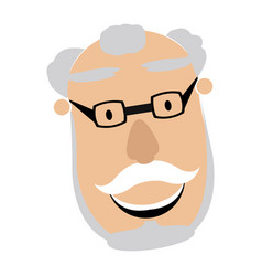 Avatar of a grandfather vector