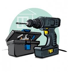 Battery drill vector