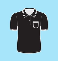 Black polo shirt outline vector image