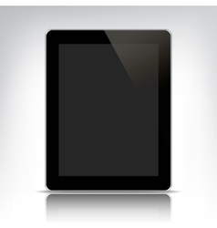 black tablet pc with empty screen vector image