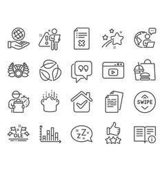business icons set included icon as laureate vector image