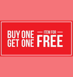Buy one get one off sign horizontal vector