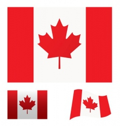 Canada flag set vector image