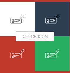 Check icon white background vector