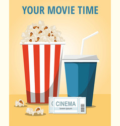 cinema concept poster on yellow background vector image