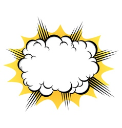 Cloud after the explosion vector