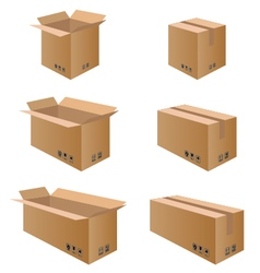 Collection box packaging Packaging Box for Paper vector image